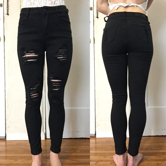 3f6d37dd Prestige Denim Black Destroyed Skinny Pants. Prestige Denim USA.  M_5c5fb707fe51514f4a6d9851. M_5c5fb70caa5719185d1b8b76.  M_5c5fb7094ab6337d64782332